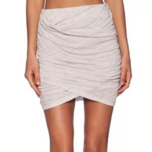 IRO Jeans Gwen Rouched Cream Skirt Size Small